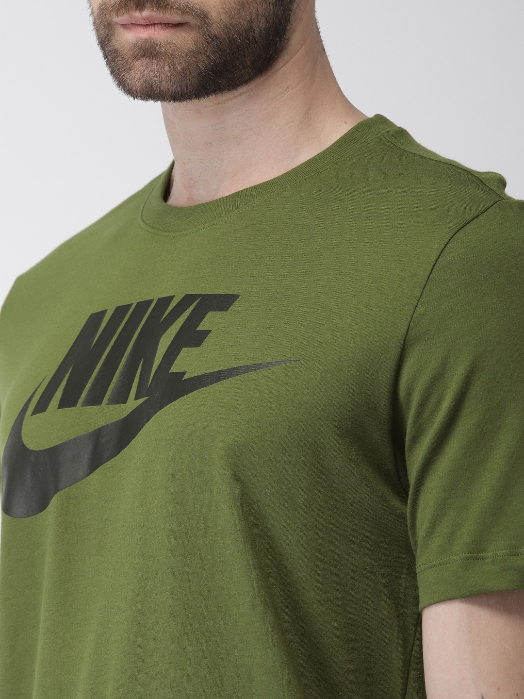 8a4747dc Buy Nike Men Olive Green Printed AS M NSW TEE FUTURA ICON T Shirt ...