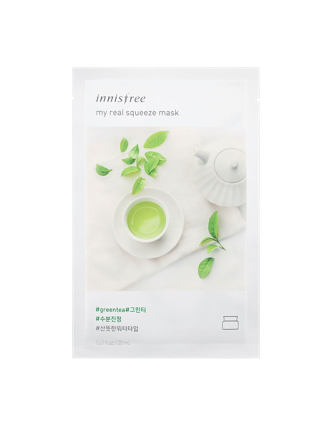 Buy Innisfree Unisex Green Tea My Real Squeeze Mask 20 Ml And Black Berry Image