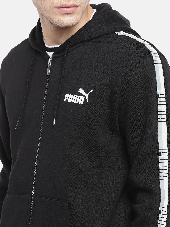 f6cafac5d Buy Puma Men Black ELEVATED ESS Tape FZ Hoody Sweatshirt ...