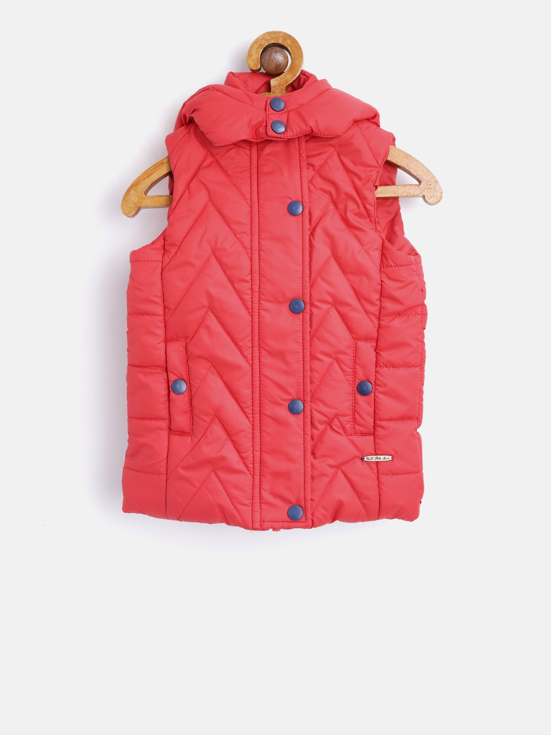 c03934ac699f Buy U.S. Polo Assn. Kids Girls Red Hooded Sleeveless Quilted Jacket ...