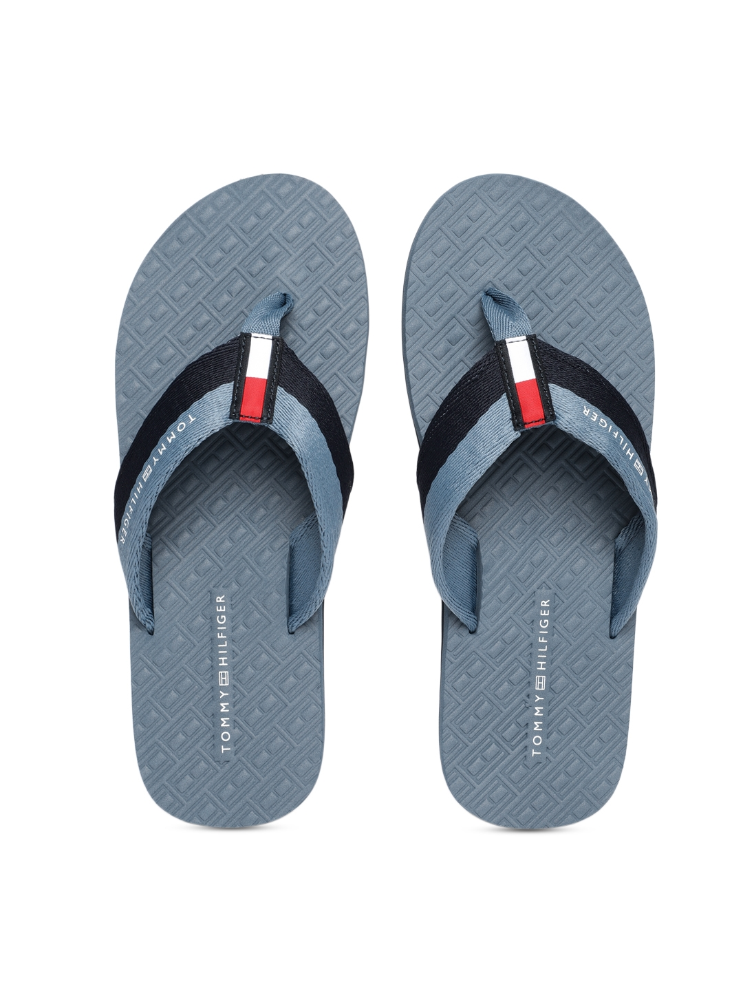 afe1946a176f Buy Tommy Hilfiger Men Blue Solid Thong Flip Flops - Flip Flops for ...