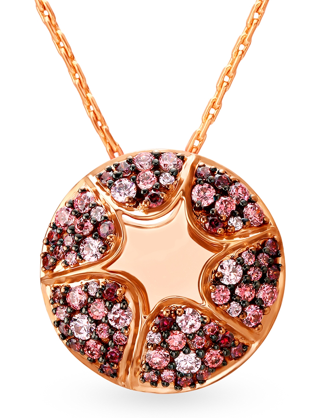 Mia Glam by Tanishq 14KT Rose Gold Cubic Zirconia Pendant
