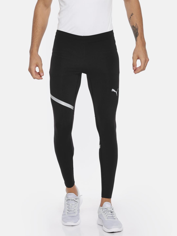 5a35dd75edd4 Buy Puma Men Black Solid SPEED Long Running Tights - Tights for Men ...