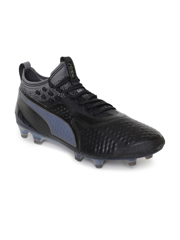 8160c170872b Buy Puma Men Black Solid PUMA ONE 1 Lth FG AG Leather Football Shoes ...