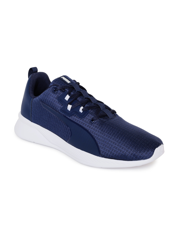 5fc6340e9bb6 Buy Puma Men Navy Blue Solid Tishatsu Runner Training Shoes - Sports ...