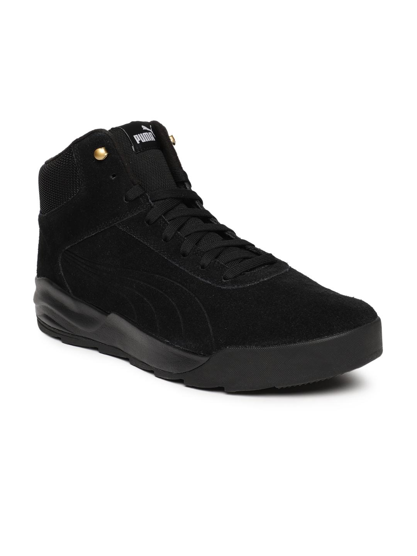 5addc0358a2 Buy Puma Men Black Desierto Suede Mid Top Sneakers - Casual Shoes ...