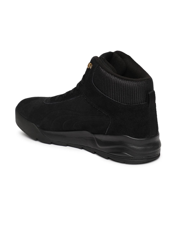 8950ccc55be6 Buy Puma Men Black Desierto Suede Mid Top Sneakers - Casual Shoes ...