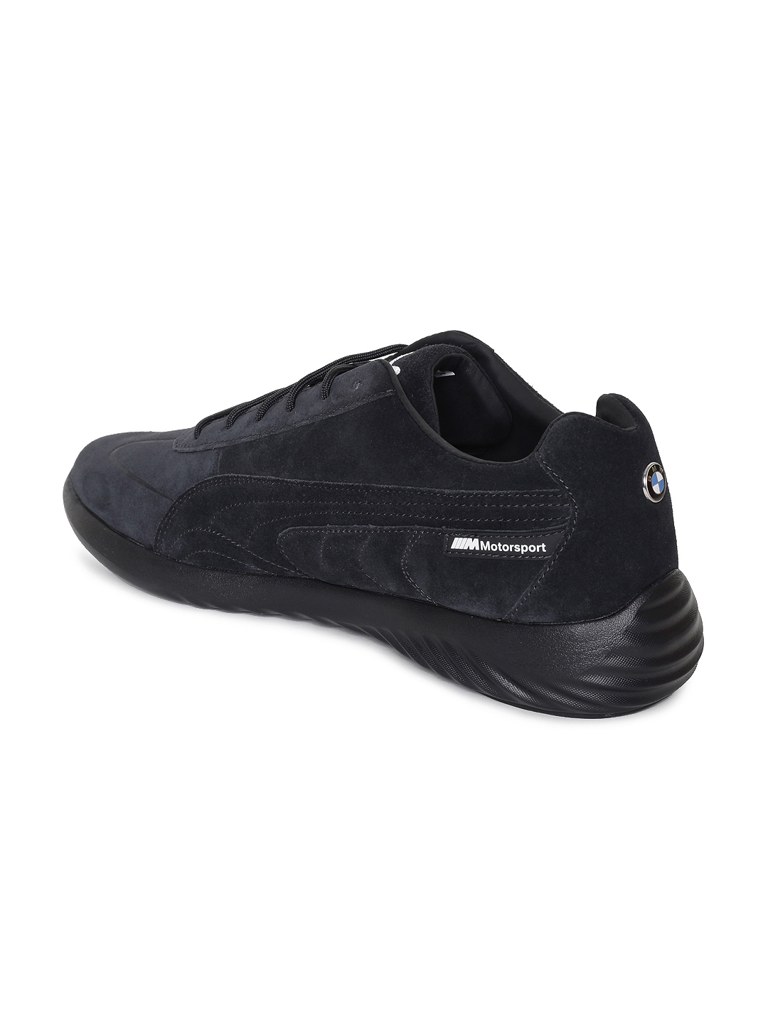 cheap for discount 7feed fb050 Puma Men Black Solid Suede BMW MS Speed Cat Evo Sneakers