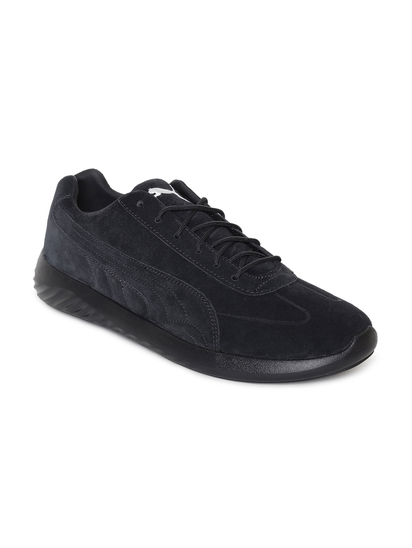 Buy Puma Men Black Solid Suede BMW MS Speed Cat Evo Sneakers ... dd692f12f