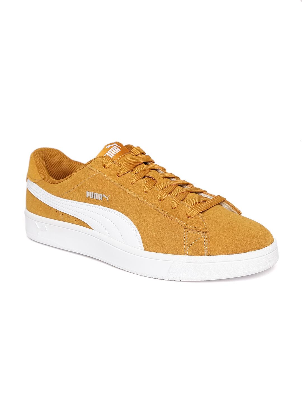 4d2055dac11a Buy Puma Men Mustard Brown Court Breaker Derby Casual Sneakers ...