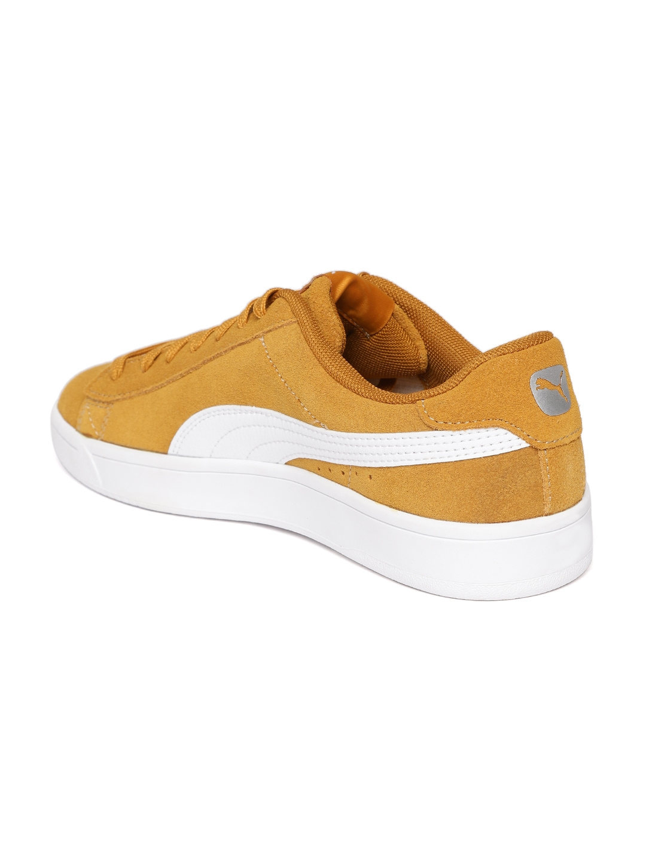 Buy Puma Men Mustard Brown Court Breaker Derby Casual Sneakers ... ebd917bee