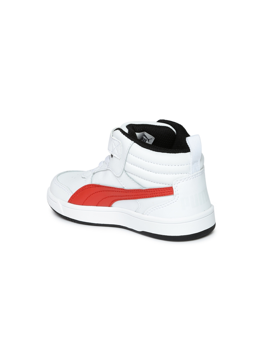 fc5c9020dc7e Puma Boys White   Red Rebound Street v2 L V PS Mid-Top Colourblocked  Leather Sneakers
