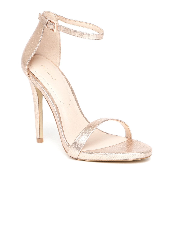 d769755495c Buy ALDO Women Rose Gold Toned Solid Heels - Heels for Women 7189478 ...