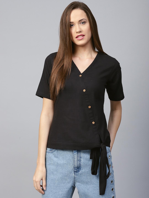 Athena Women Black Solid Top
