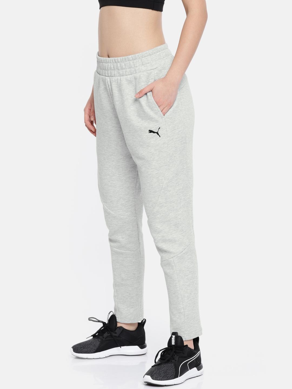 5f1d4e5186fd Buy Puma Women Grey Regular Fit Evostripe Core Track Pants - Track ...