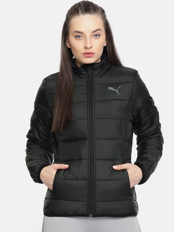 b75051601f75 Buy Puma Women Black WarmCELL Ultralight Solid Padded Jacket ...