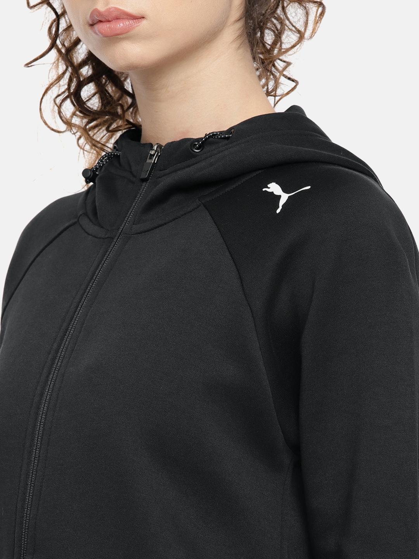 8fa05d411918 Buy Puma Women Black Evostripe Core FZ Hooded Jacket - Jackets for ...
