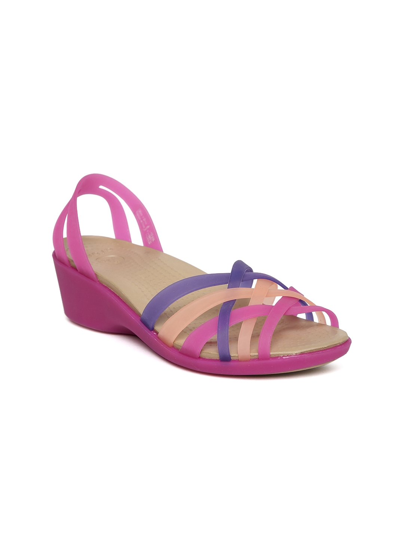 7da5d34aff8 Buy Crocs Women Pink   Purple Huarache Mini Wedges - Heels for Women 719966