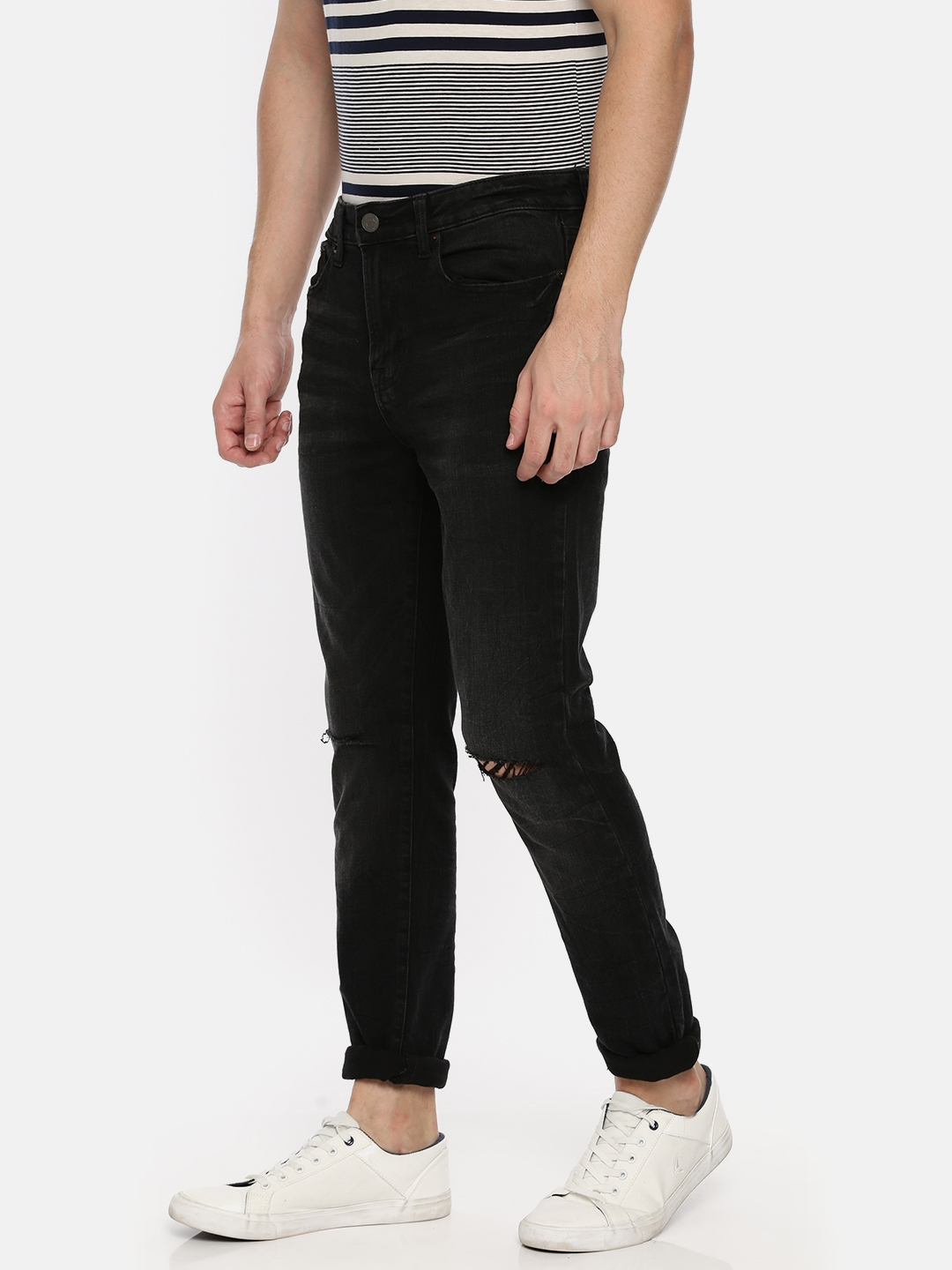 c016272767f9f Buy AMERICAN EAGLE OUTFITTERS Men Black Super Skinny Fit Mid Rise ...