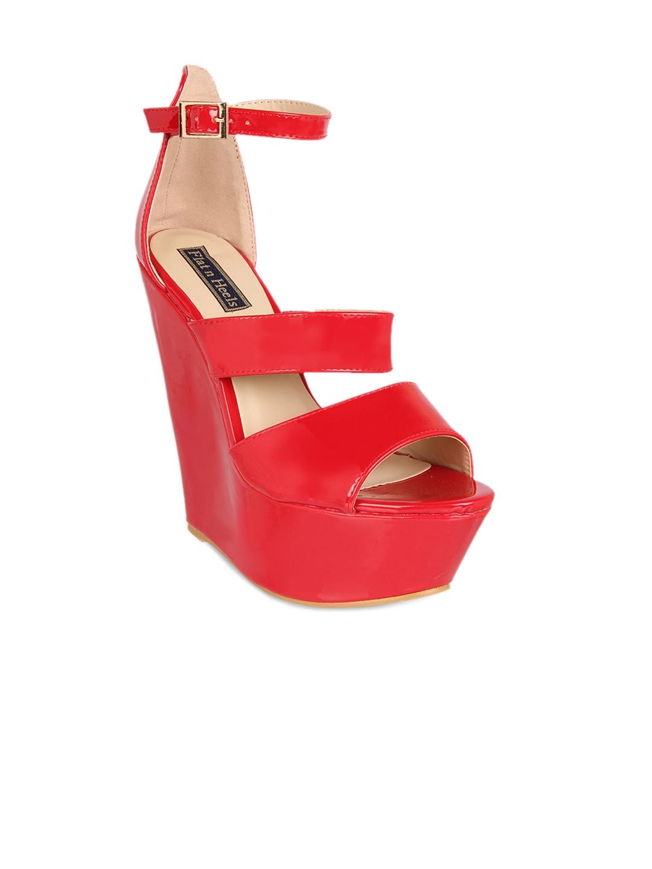 e664a42de Buy Flat N Heels Women Red Solid Sandals - Heels for Women 7203716 ...