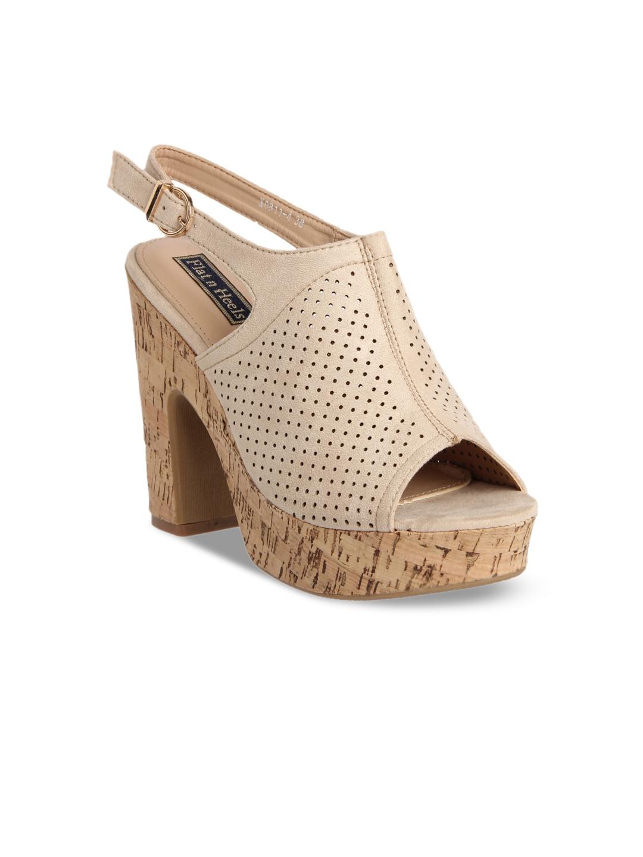 2896b1f1 Buy Flat N Heels Women Beige Solid Suede Sandals - Heels for Women ...