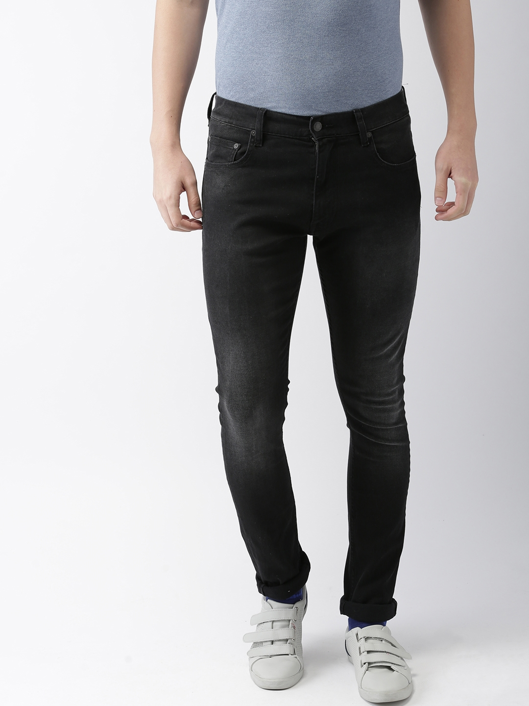95c01e7b Tommy Hilfiger LEWIS HAMILTON Men Black Regular Fit Mid-Rise Clean Look Stretchable  Jeans