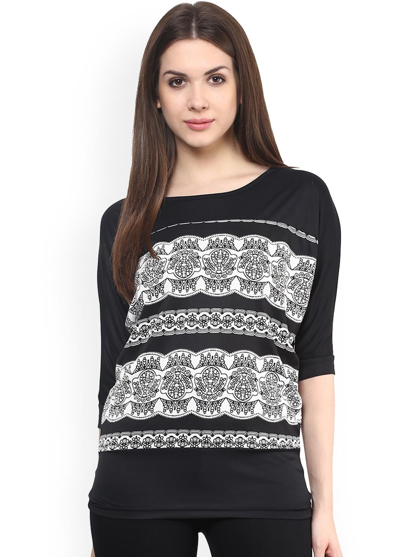 Mayra Women Black Printed Top