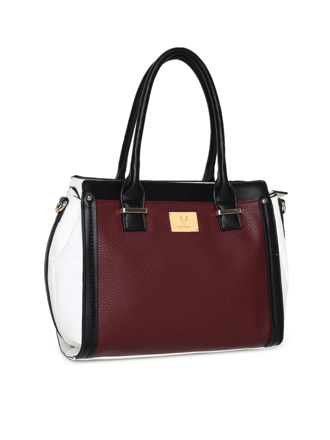 Buy Allen Solly Burgundy   White Textured Shoulder Bag - Handbags ... fc3b675283447