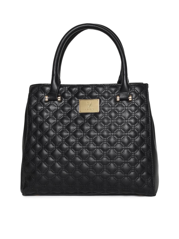 Buy Allen Solly Black Textured Handheld Bag - Handbags for Women ... 9c494b9a43ecb