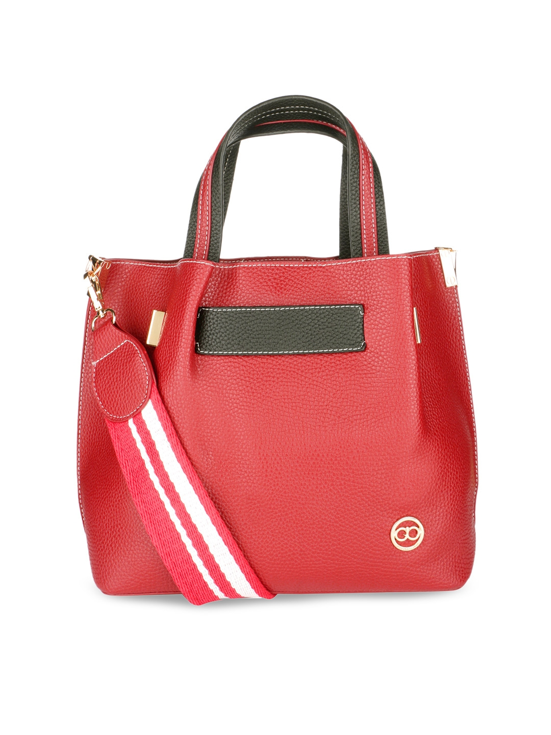 GIO COLLECTION Red Solid Shoulder Bag