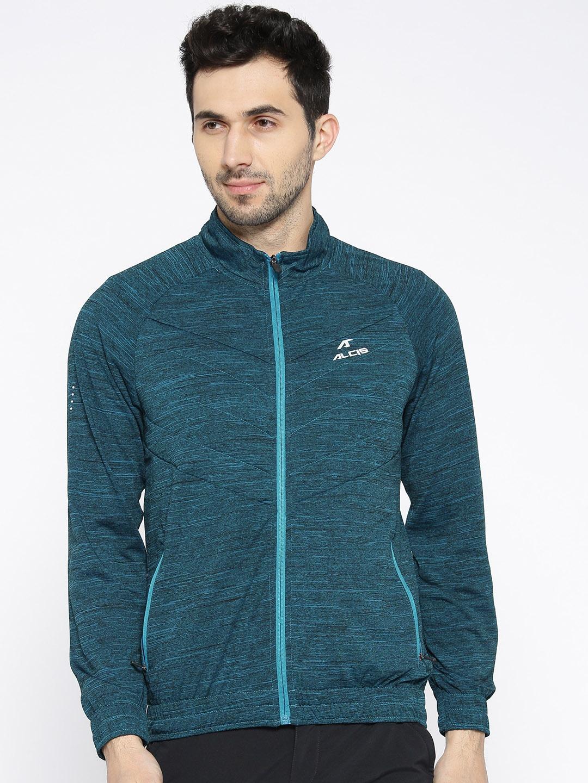Alcis Men Blue Printed Tailored Jacket