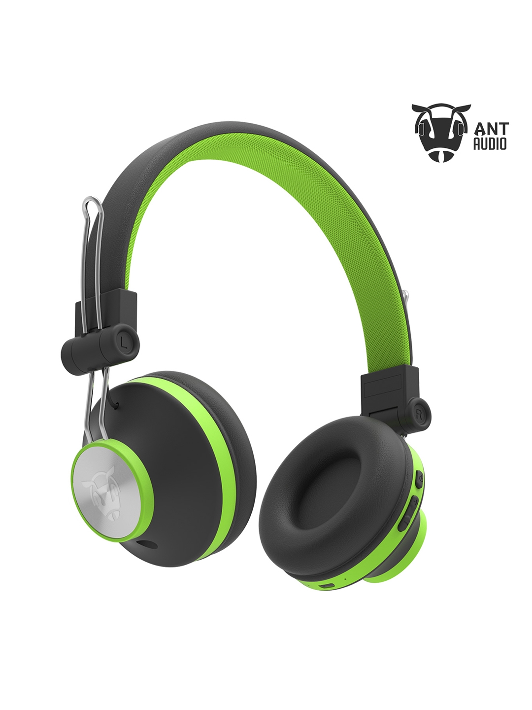 Ant Audio Unisex Green   Black Treble H82 On Ear Bluetooth Headphones
