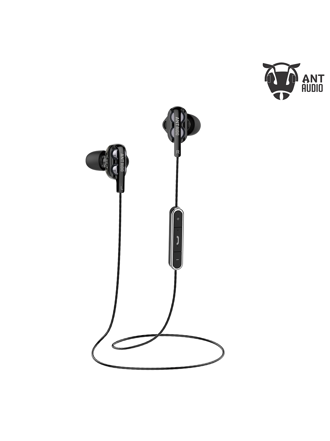 Ant Audio Unisex Black Double H2 Dual Driver Wireless in Ear Headset Ant Audio Headphones