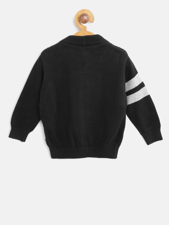 89dc7a7b7 Buy Gini And Jony Boys Black   Grey Melange Argyle Pattern Cardigan ...