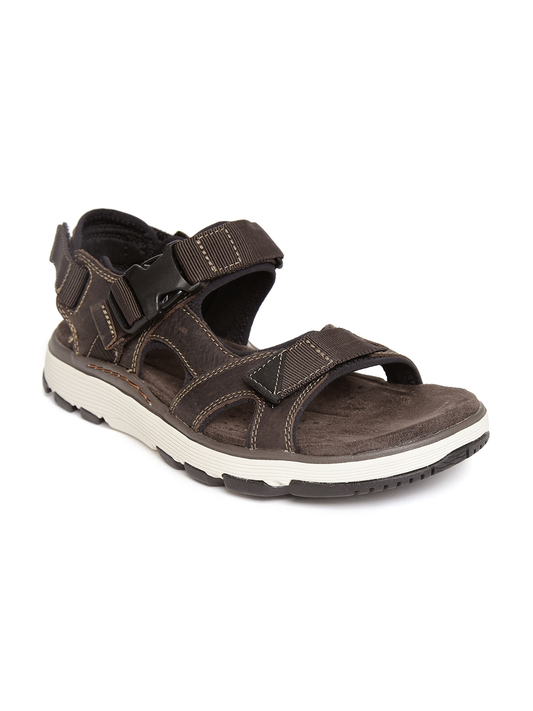 9a7ae71c5985 Buy Clarks Men Coffee Brown Leather Comfort Sandals - Sandals for ...