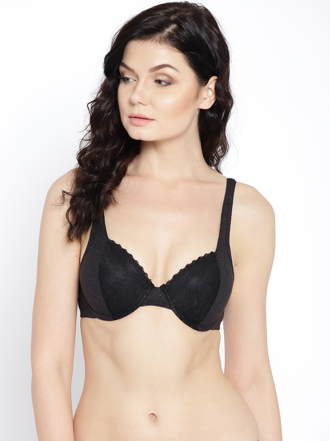 bde714a272e44 Clovia Black Solid Underwired Heavily Padded Push-Up Bra BR1415P1340B