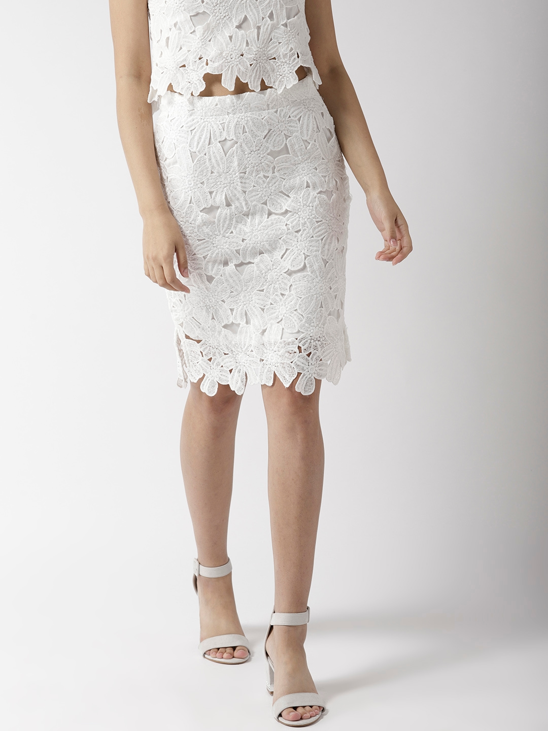 65e2687fdf7b Buy 20Dresses Women White Lace Pencil Skirt - Skirts for Women ...