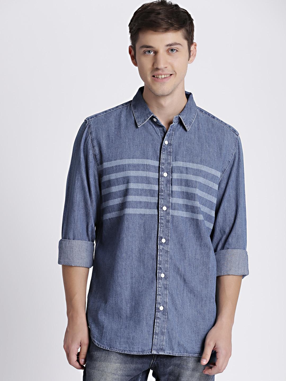 80c0d41f6c Buy GAP Men s Blue Denim Western Shirt In Laser Wash - Shirts for ...