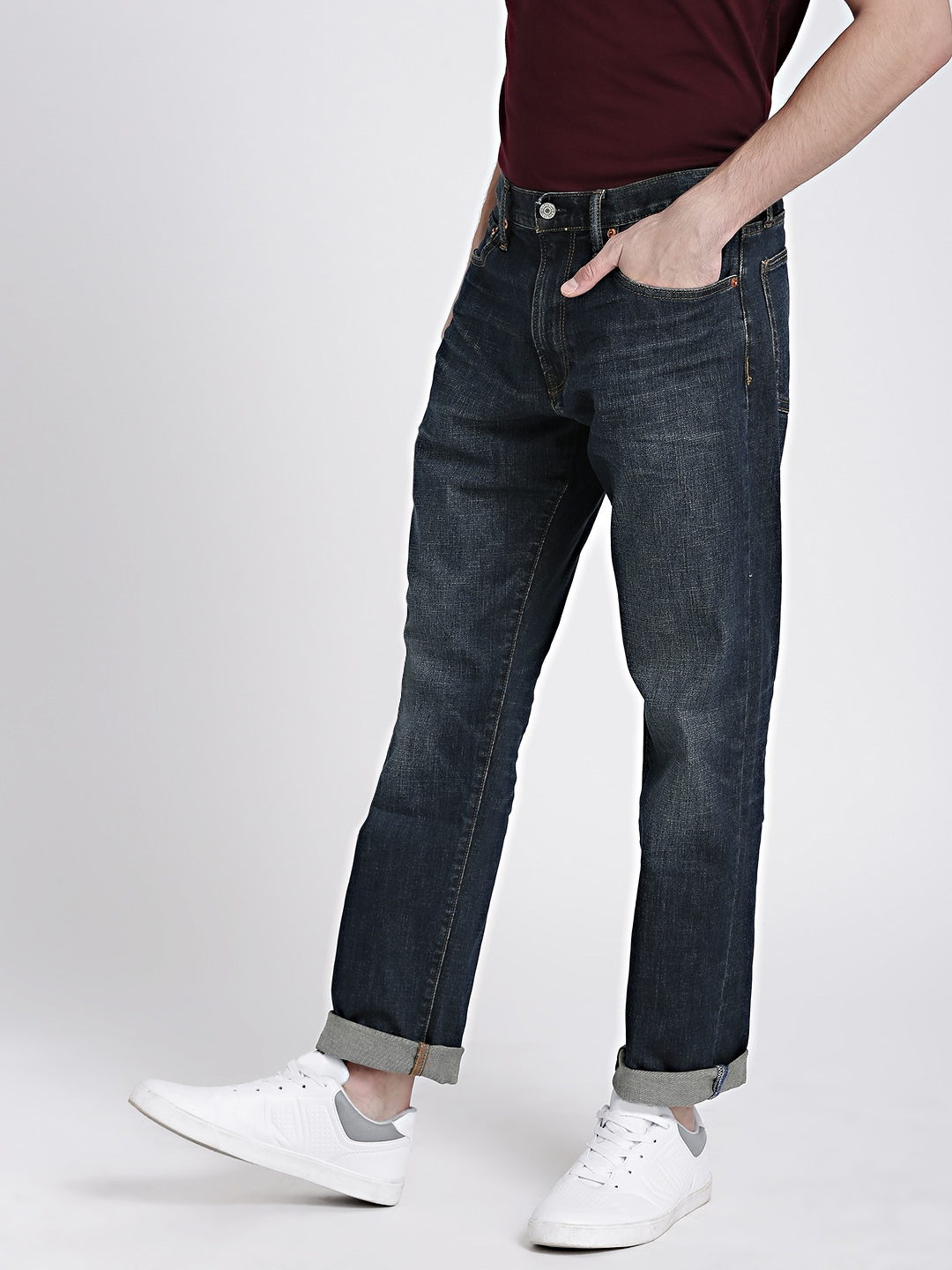 83f2f38e98c Buy GAP Men s Blue Jeans In Athletic Fit With GapFlex - Jeans for ...