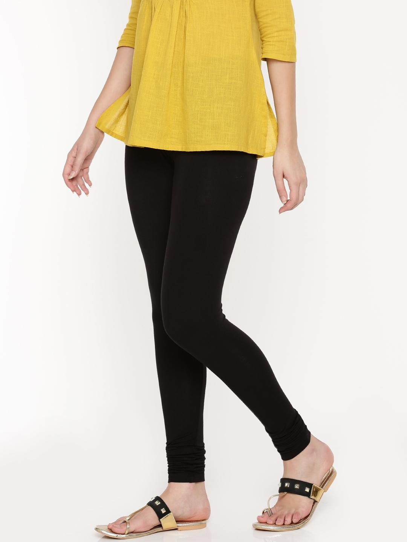 221b2a6c1647f Buy De Moza Black Ankle Length Leggings - Leggings for Women 7228216 ...