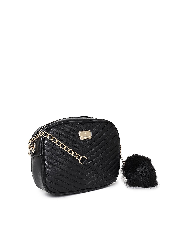 291281259f0489 Buy Van Heusen Woman Black Quilted Sling Bag - Handbags for Women ...