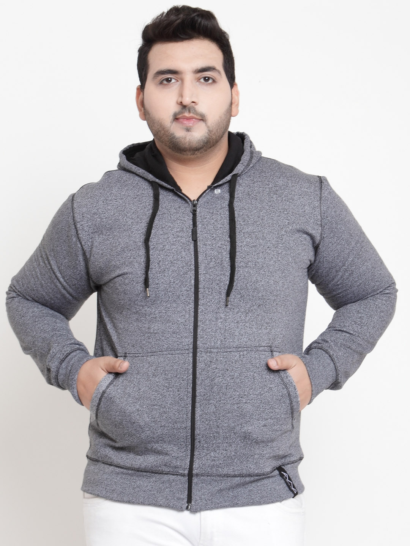 bd0195537 Buy AWG ALL WEATHER GEAR Men Grey Solid Hooded Sweatshirt ...
