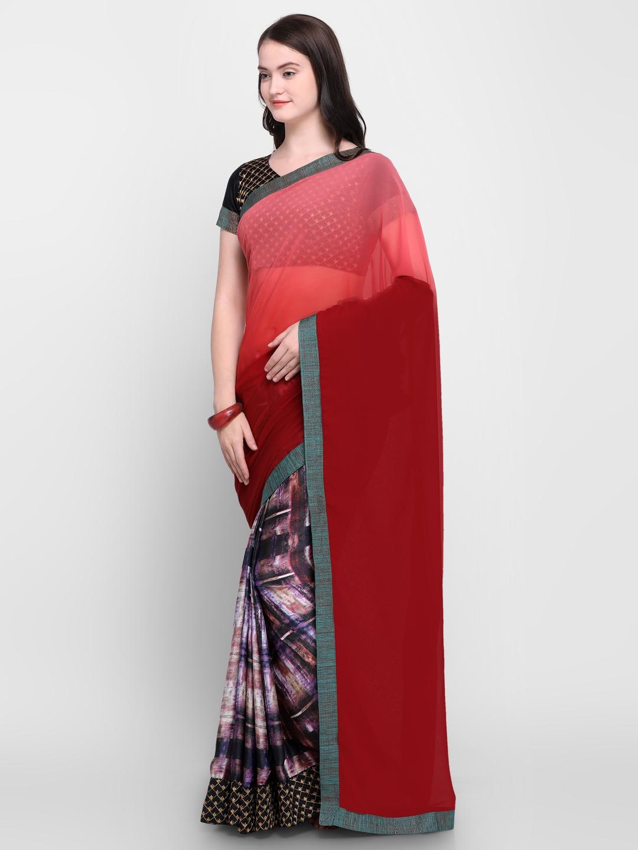 f17f441760 Buy Shaily Multicoloured Printed Satin Saree - Sarees for Women ...