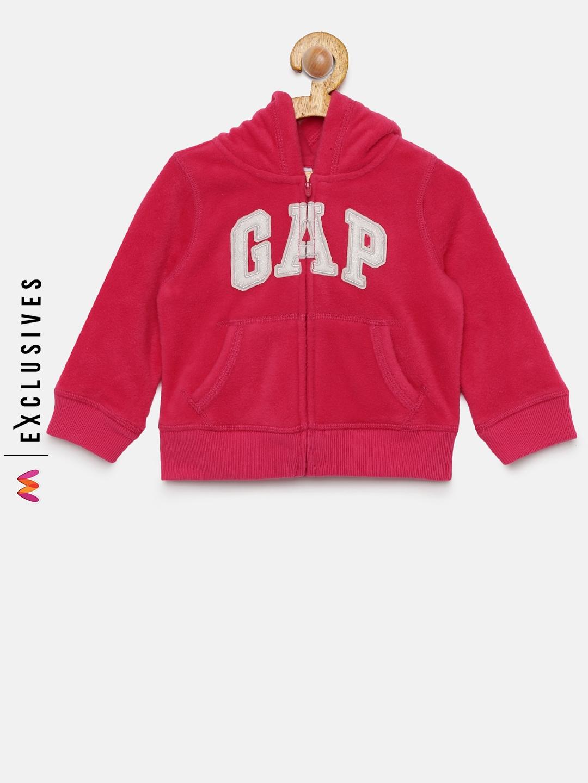 Buy Gap Girls Pink Printed Logo Hoodie Sweatshirt Sweatshirts For