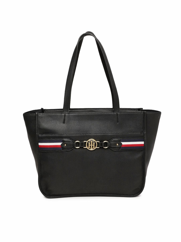 b0c8aa919 Buy Tommy Hilfiger Black Solid Shoulder Bag - Handbags for Women ...