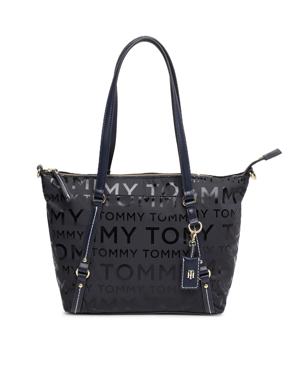 32c4f9bc07afa Buy Tommy Hilfiger Navy Blue Printed Shoulder Bag - Handbags for ...