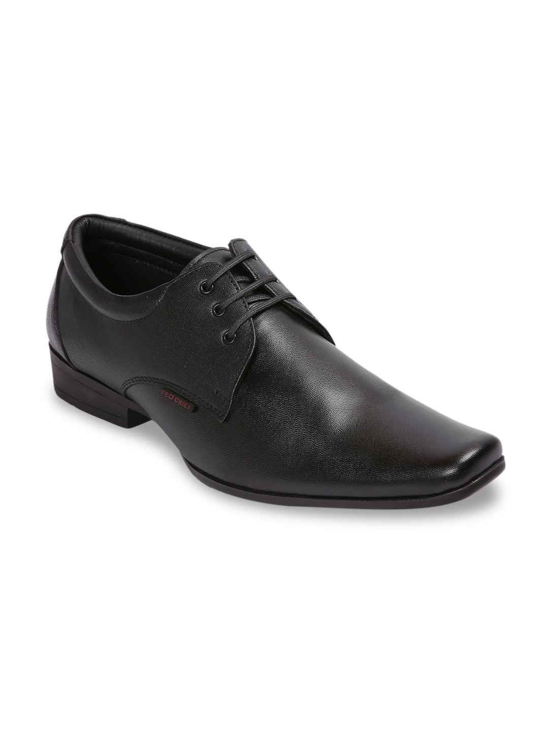 Buy Red Chief Men Black Leather Formal