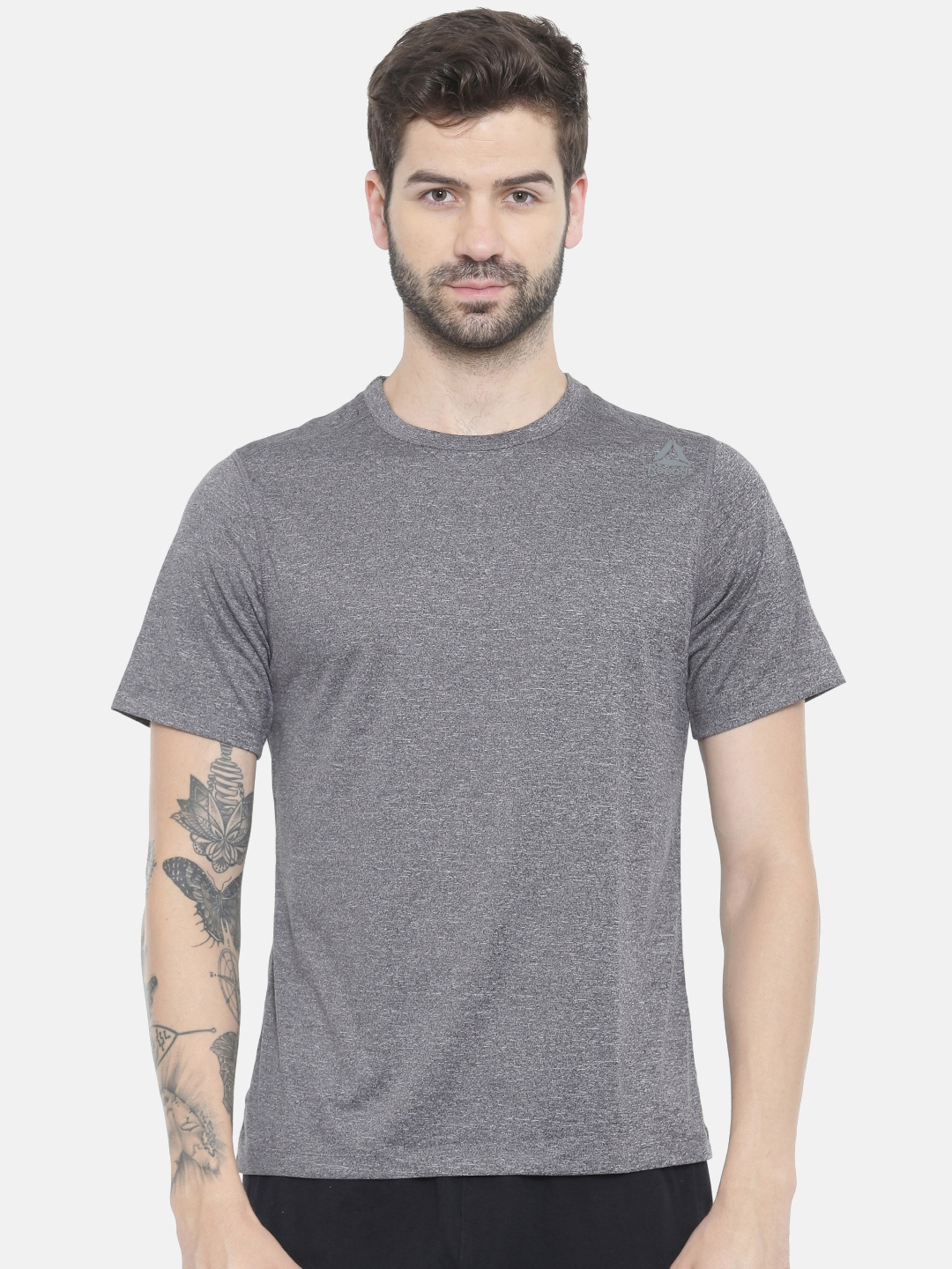 Reebok Grey Melange US Training T-shirt