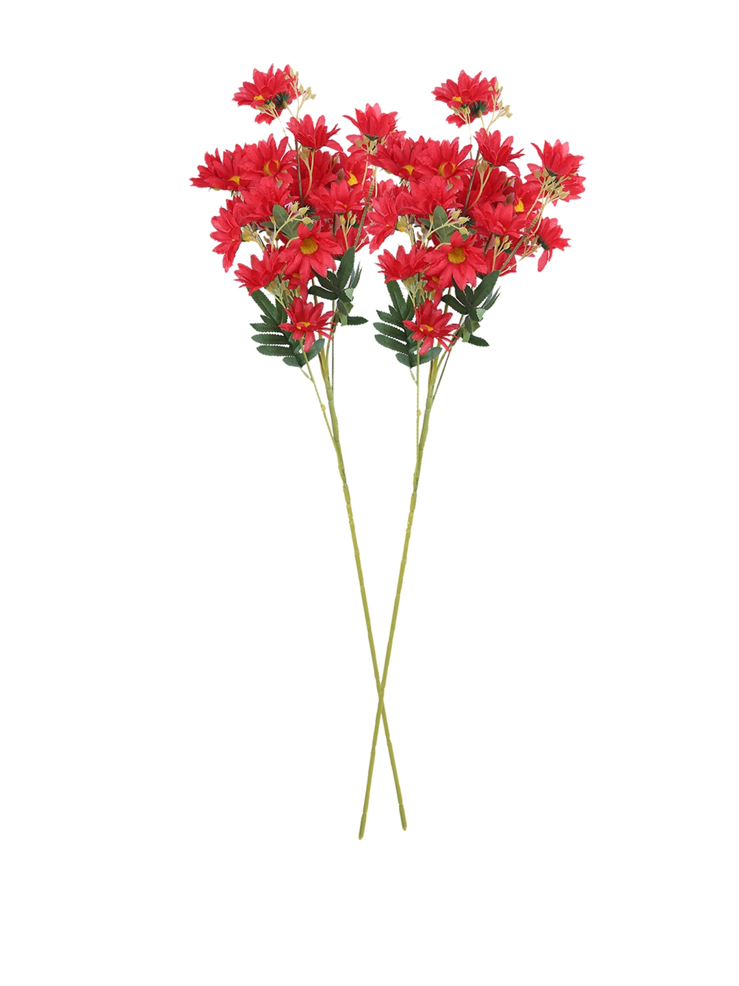 Buy Fourwalls Set Of 2 Red Artificial Daisy Flower Stems