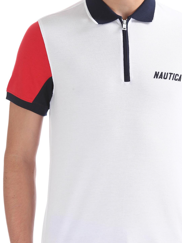 a4db472040cea Buy Nautica Men White Solid Polo Collar T Shirt - Tshirts for Men ...